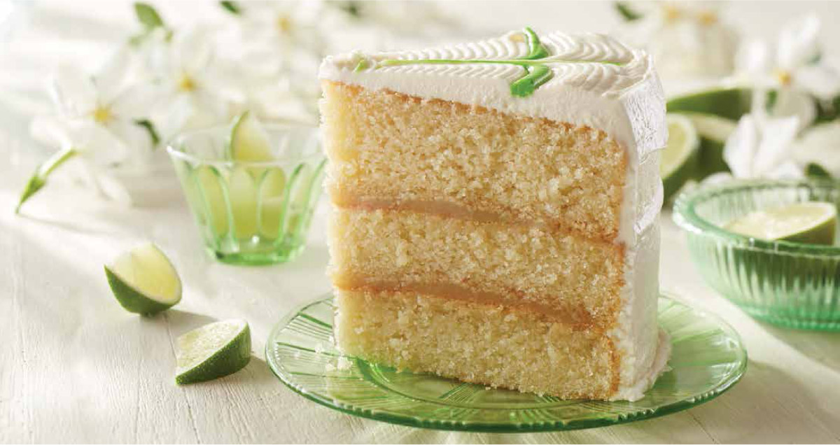 Key lime layer cake - for a limited time only