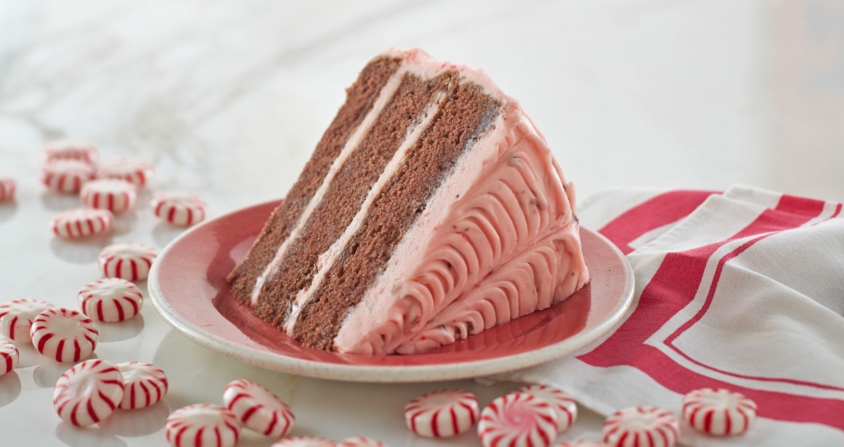 Peppermint Bark Layer Cake