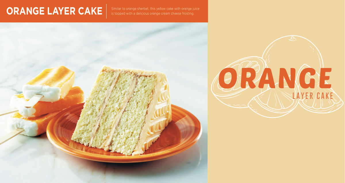 Orange Layer Cake - for a limited time
