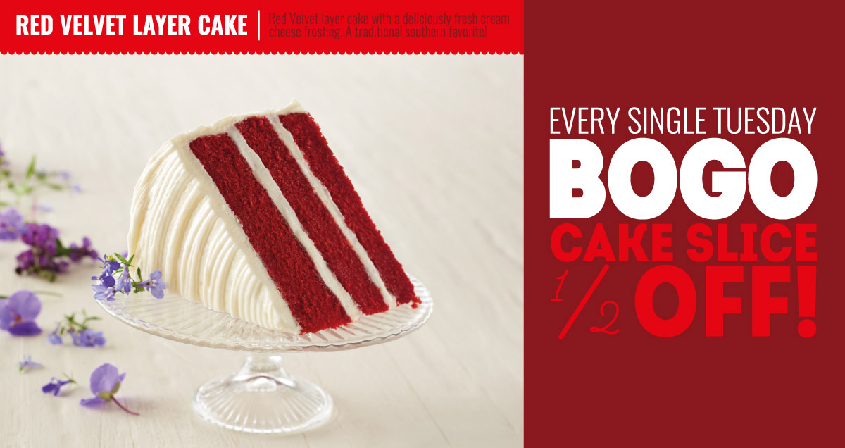 Red Velvet Layer Cake Slices - In Store BOGO