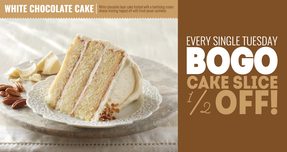 White Chocolate Layer Cake Slices - In Store BOGO