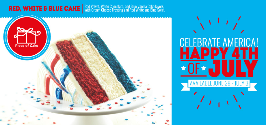 Fourth of July Cake - red white and blue!