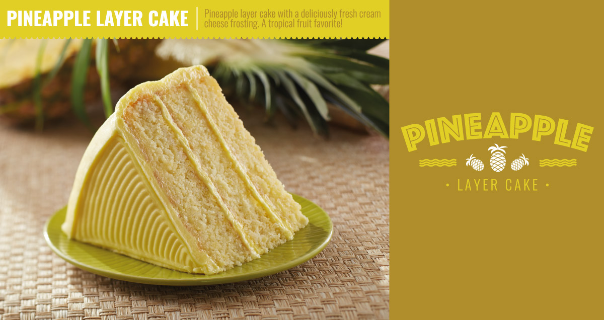 Pineapple layer cake - for a limited time only