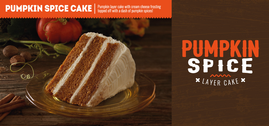 Pumpkin Spice Cake Available Now!