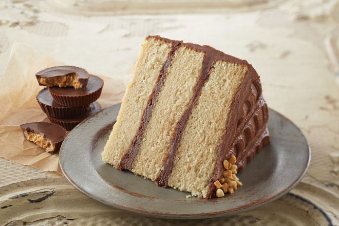 chocolate and peanut butter layer cake peanut butter layer cake with ...