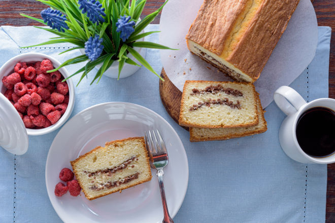 Sour Cream Coffee Cake Loaf