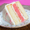 White Chocolate and Strawberry Layer Cake